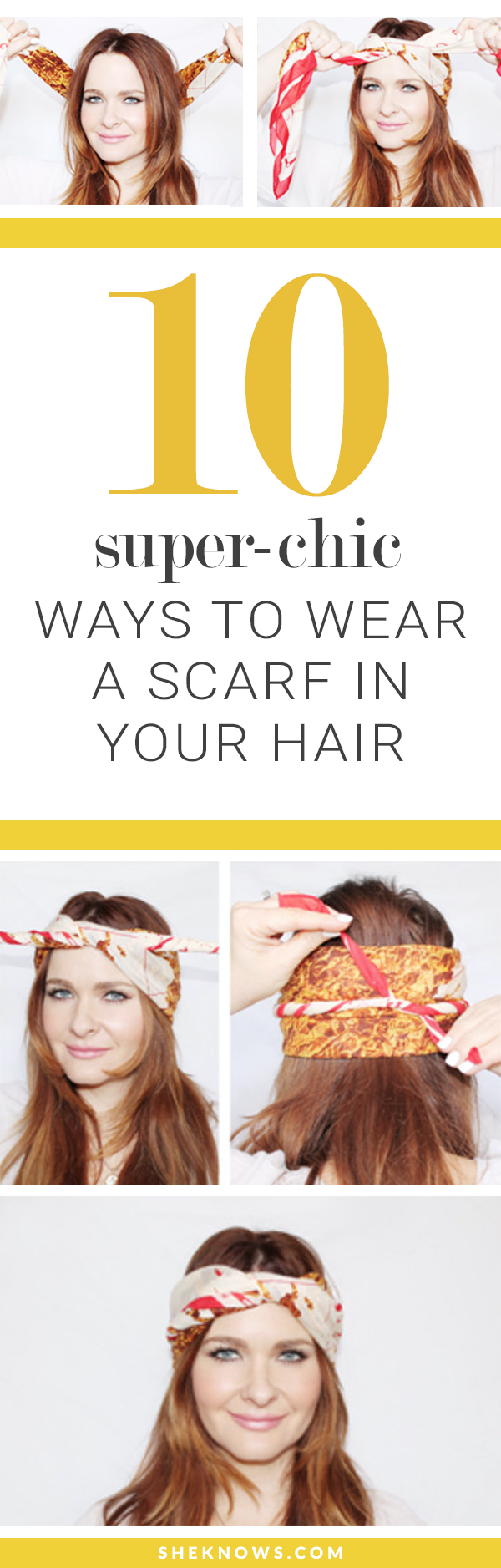 10 Hair Scarf Tutorials Thatll Take Your Summer Style To The Next Tying Diagram