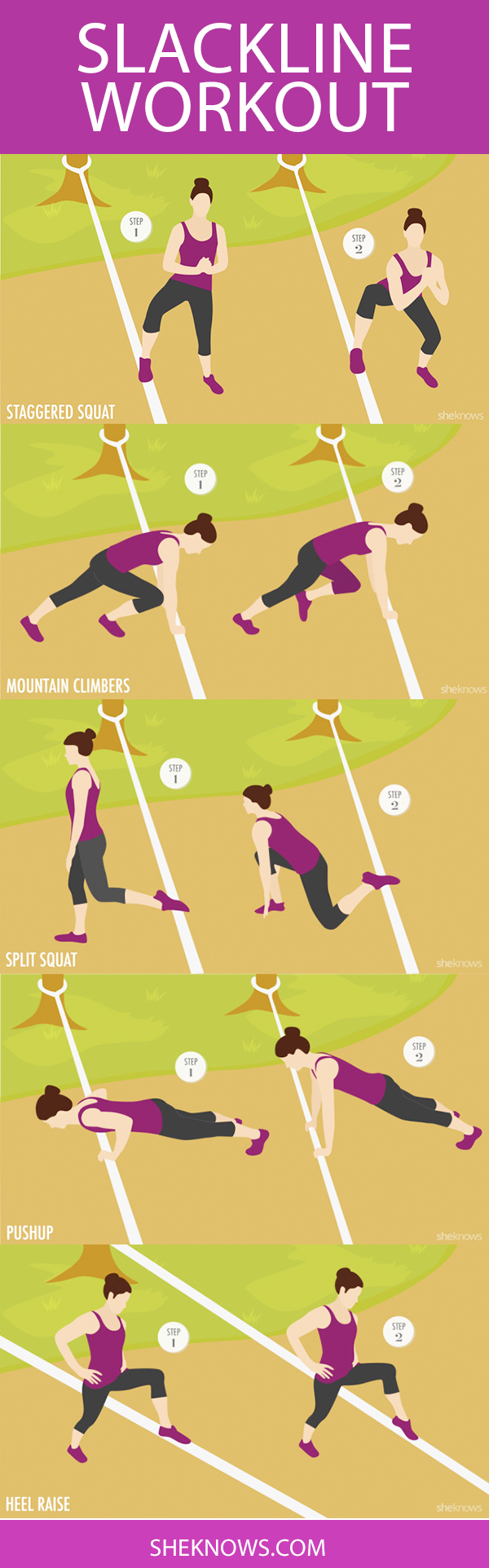 Pin it! Slackline exercises