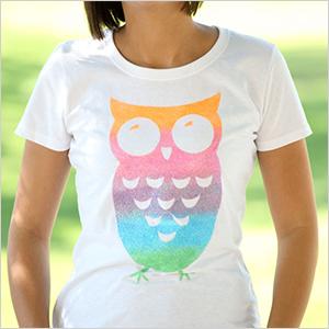 Ombre t-shirt owl craft | Sheknows.com