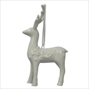 White deer ornament