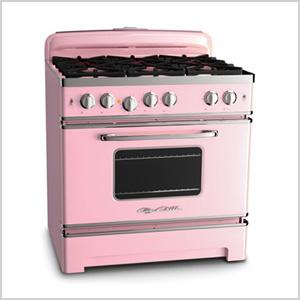 Pink stove