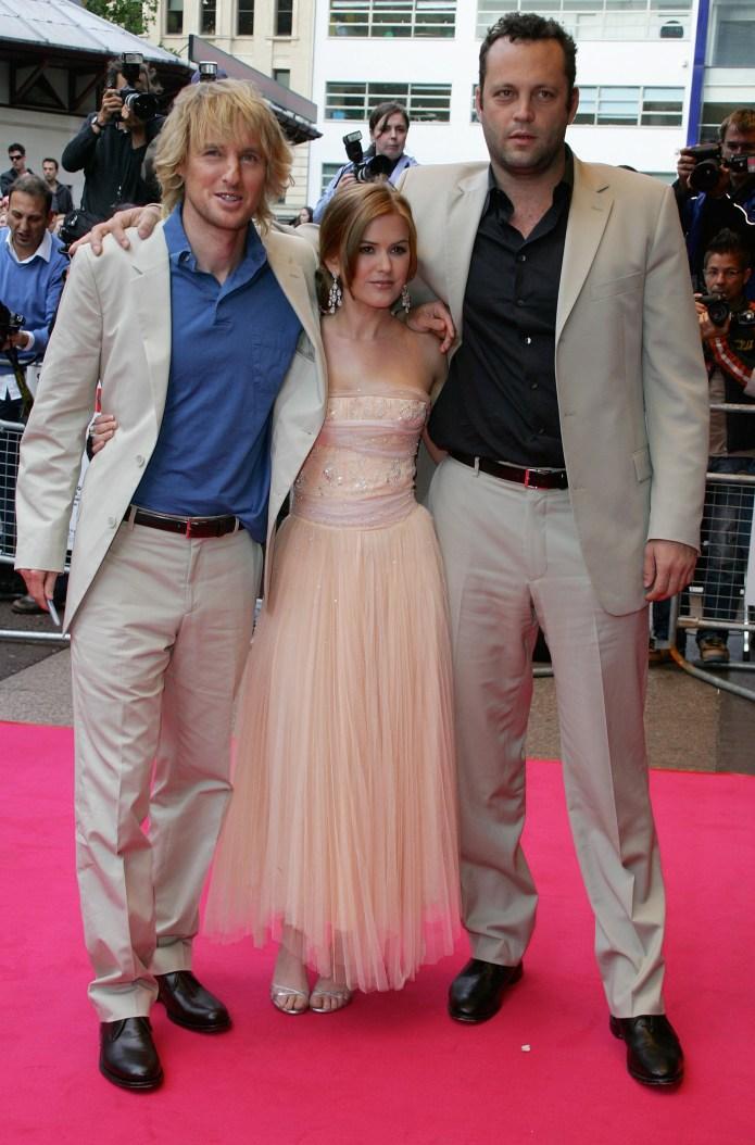 Isla Fisher, Owen Wilson and Vince