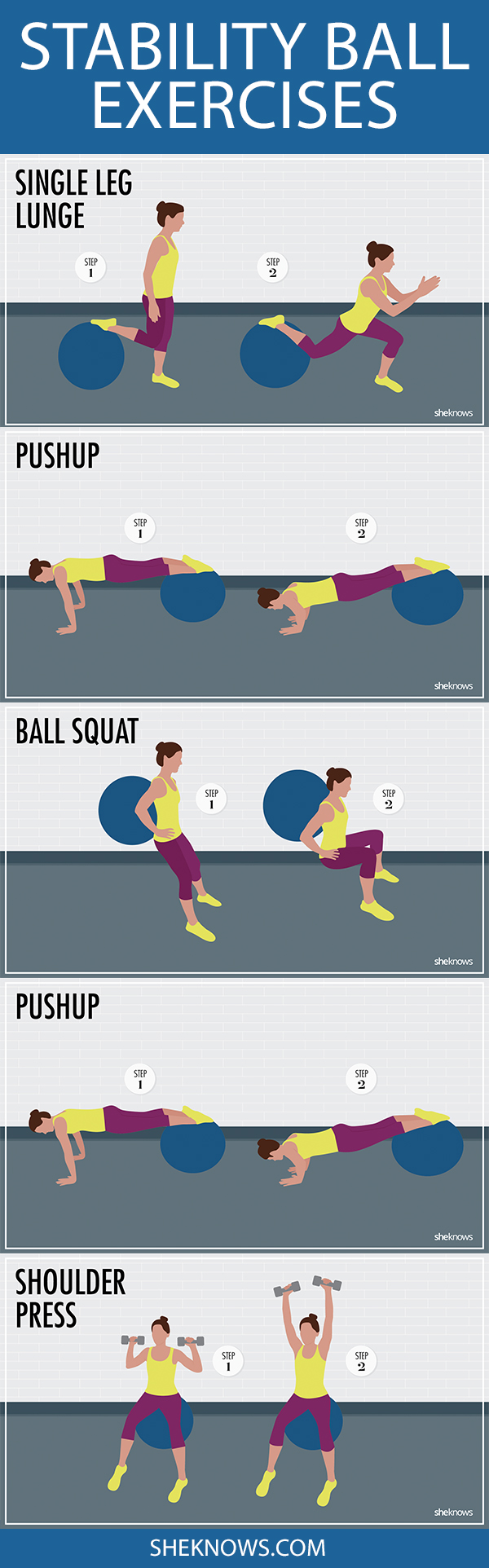 Pin it! Stability ball exercises for every body part