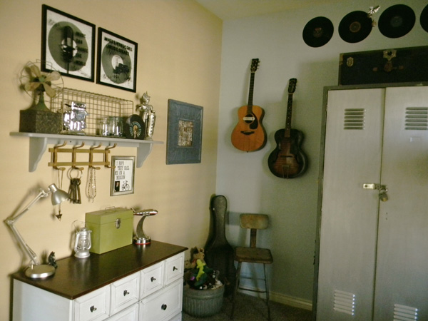 Music themes and industrial decor