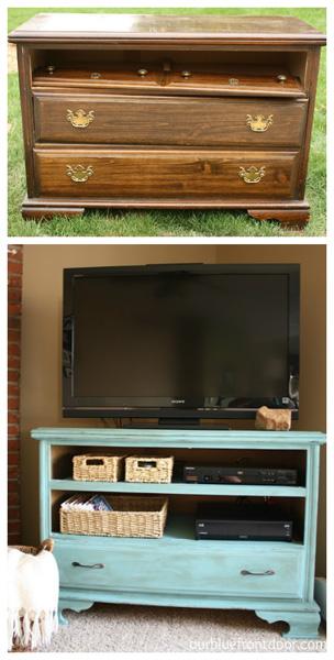 Shabby chic TV stand