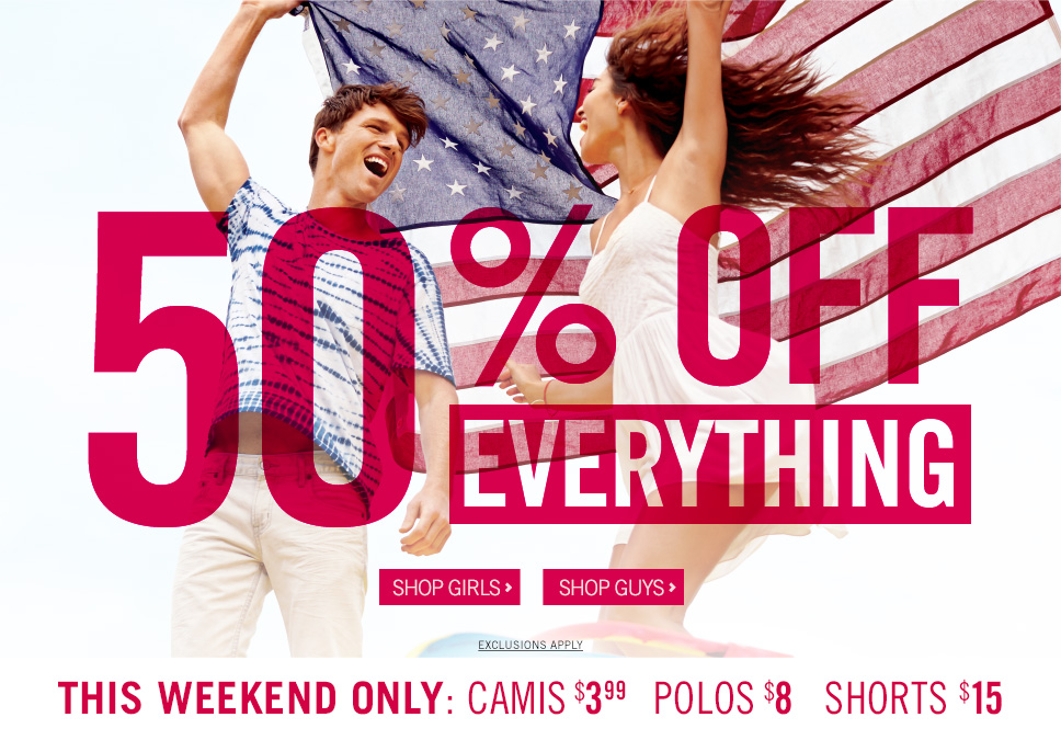 Aeropostale's Memorial Day sale