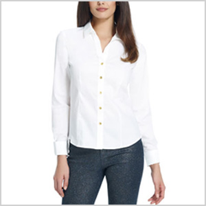 no-iron fitted shirt