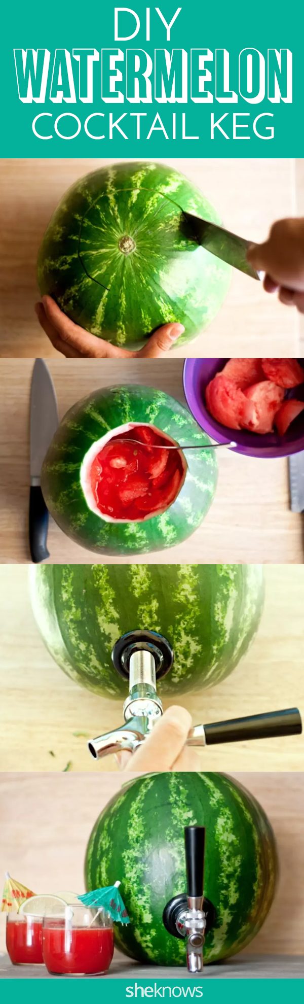 Pin it! Watermelon Cocktail Keg