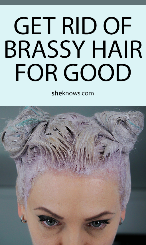 Pin it! Getting Rid of Brassy Hair with: Food Coloring & Vinegar