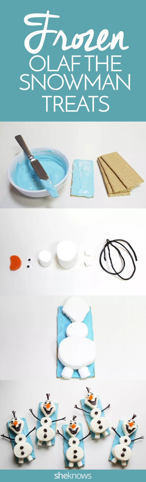 Pin it! Olaf the Snowman snacks
