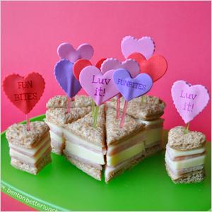 Conversation heart sandwiches | Sheknows.com