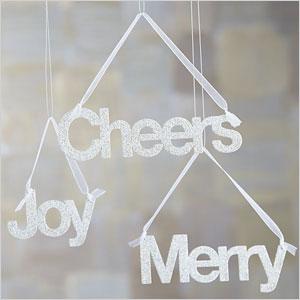 Glittery greetings