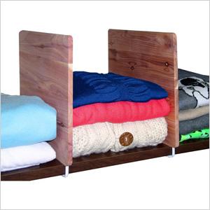 Cedar shelf dividers