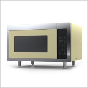 Yellow microwave