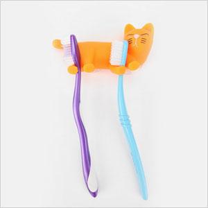 Cat toothbrush holder