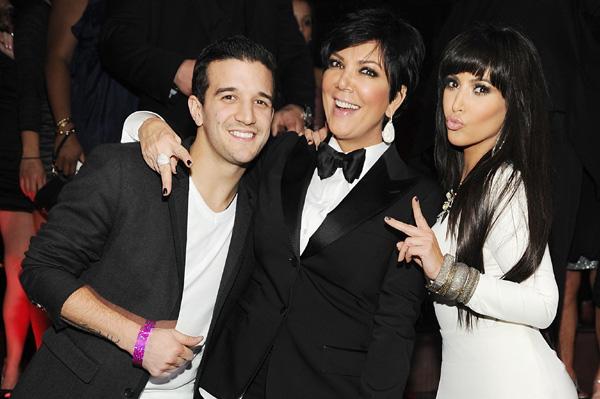 Kim Kardashian, Kris Jenner, Mark Ballas New Year's Eve 2011