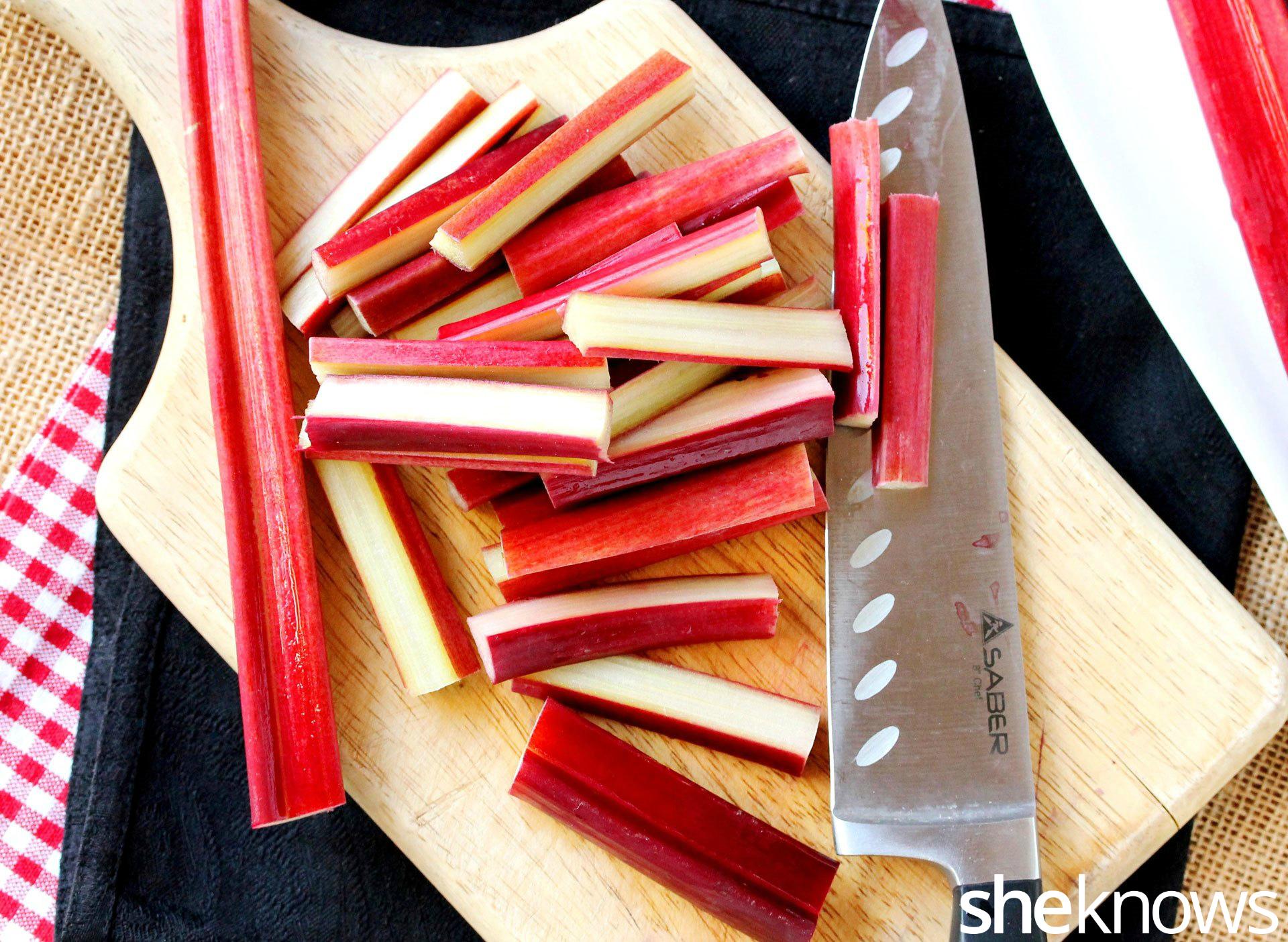 cut rhubarb