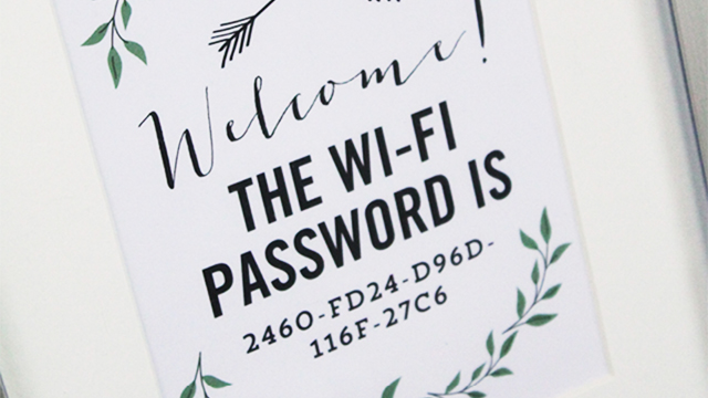 Wi-Fi password in frame
