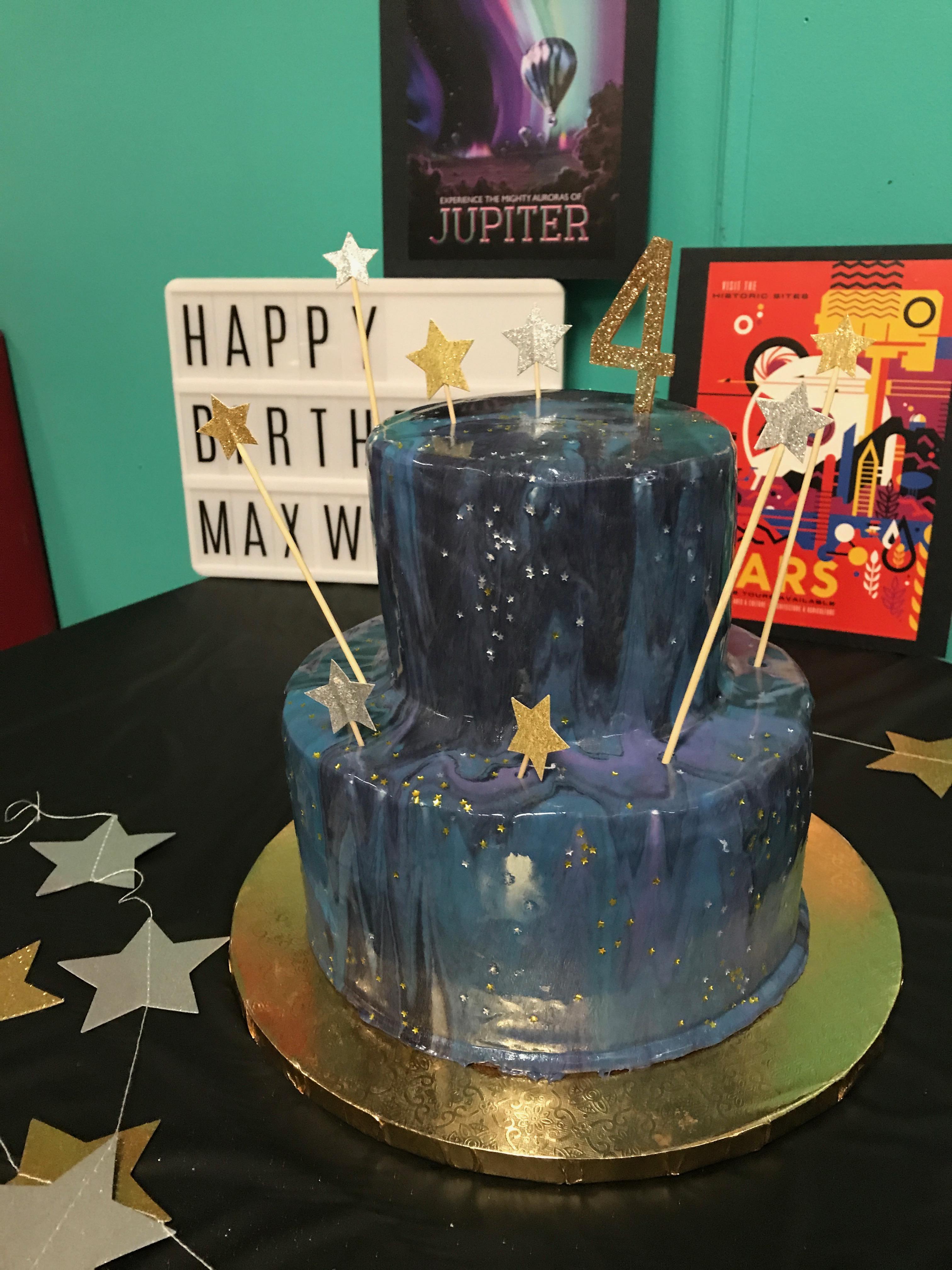 Trendy Birthday Cakes from Instagram | Galaxy Cake