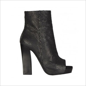 AllSaints black ankle boot with open toe