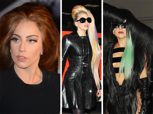 Lady Gaga's varying locks