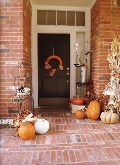 fall front porch Nuestras Adventuras