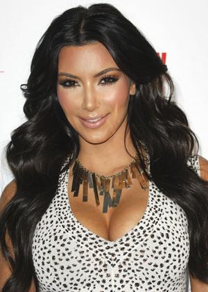 Too much foundation -- Kim Kardashian