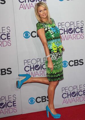 Heels higher than three inches -- Paris Hilton
