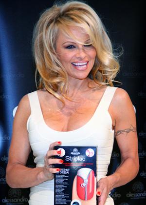 Nail art -- Pamela Anderson