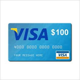A VISA gift card