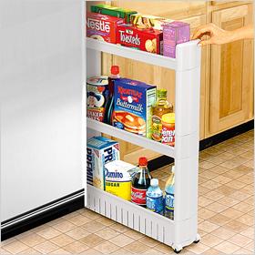 Slim slide-out pantry