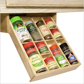 Under the cabinet spice organizer