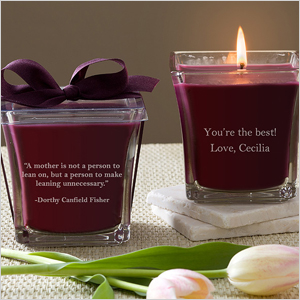 For Mom scented spa candle