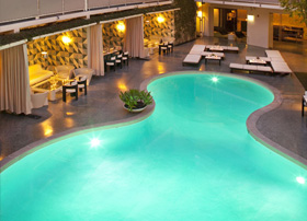 The pool at The Avalon, Beverly Hills