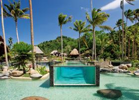 Lagoon pool on Laucala Island, Fiji
