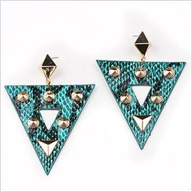 Reptilian Stud Earrings