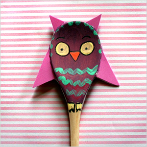 Wooden spoon owl craft | Sheknows.com