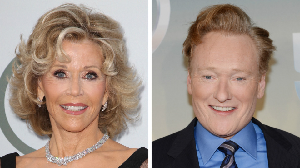 Jane Fonda and Conan