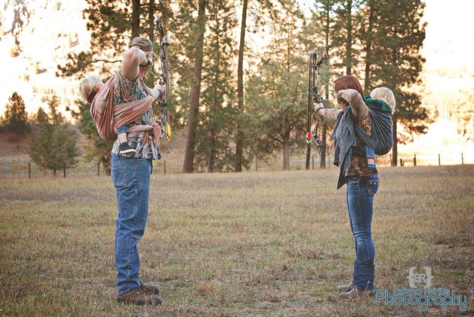 Babywearing and bow hunting