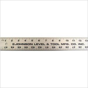 Straight edge ruler