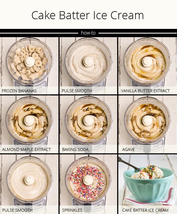 Vegan cake batter ice cream recipe