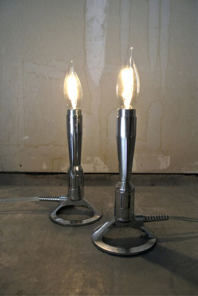 Bunson burner lamps