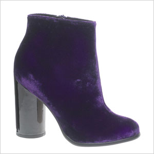 ASOS purple ankle boot