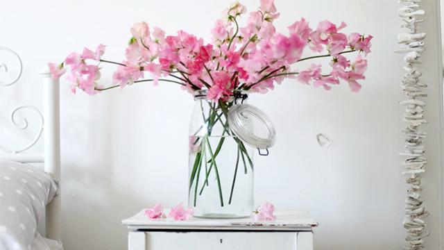 Flowers in bedroom
