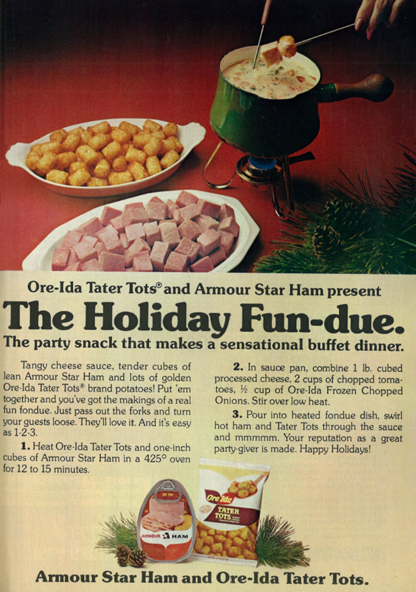 vintage holiday fondue