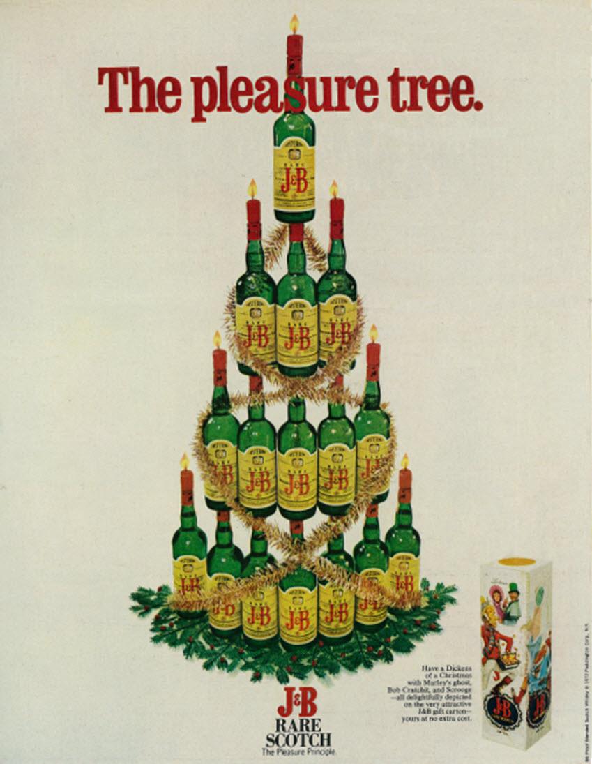 J-B scotch vintage ad