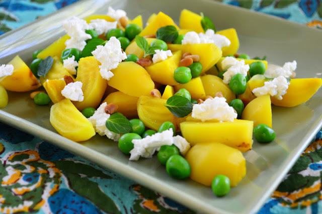 beet pea salad