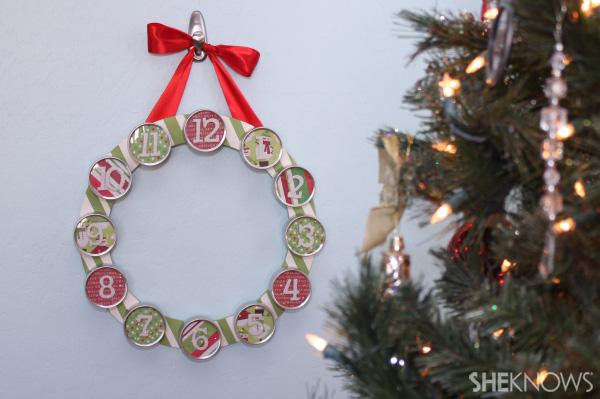 DIY 12 days wreath step 12