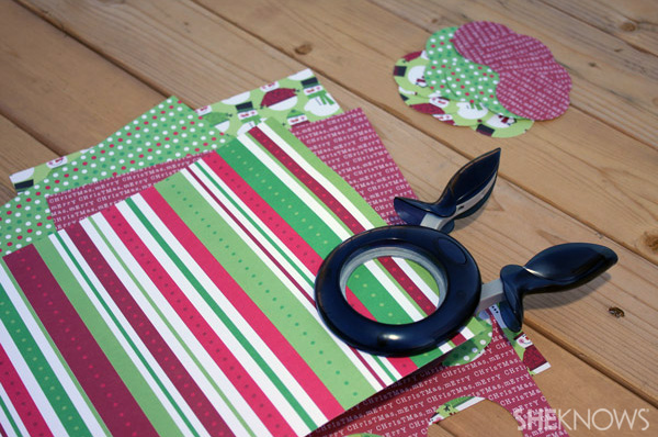 DIY 12 days wreath step 3