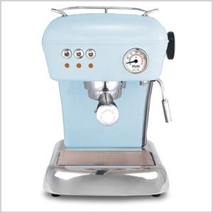 Blue espresso machine